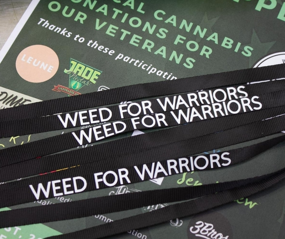 Weed for Warriors Lanyards