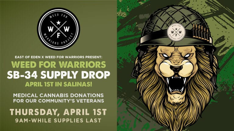 Weed for Warriors SB-34 SUpply Drop, April 1 9 am while supplies last
