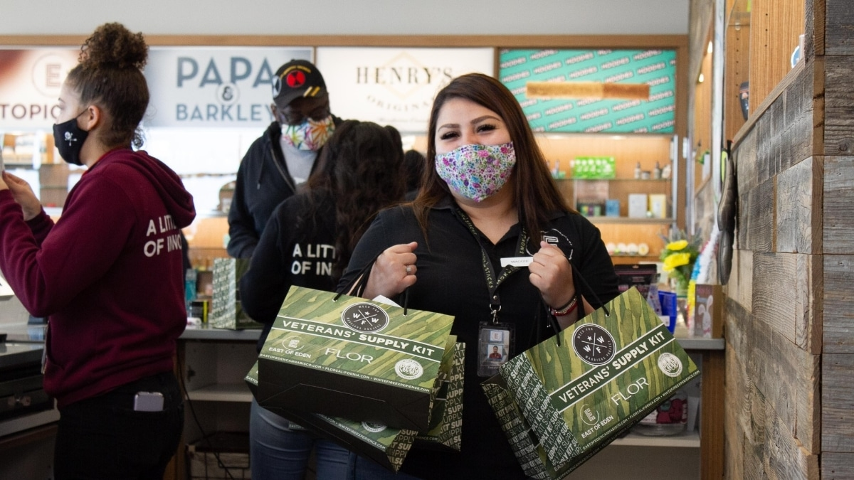 Weed for Warriors SB-34 Supply Drop at East of Eden in Salinas CA