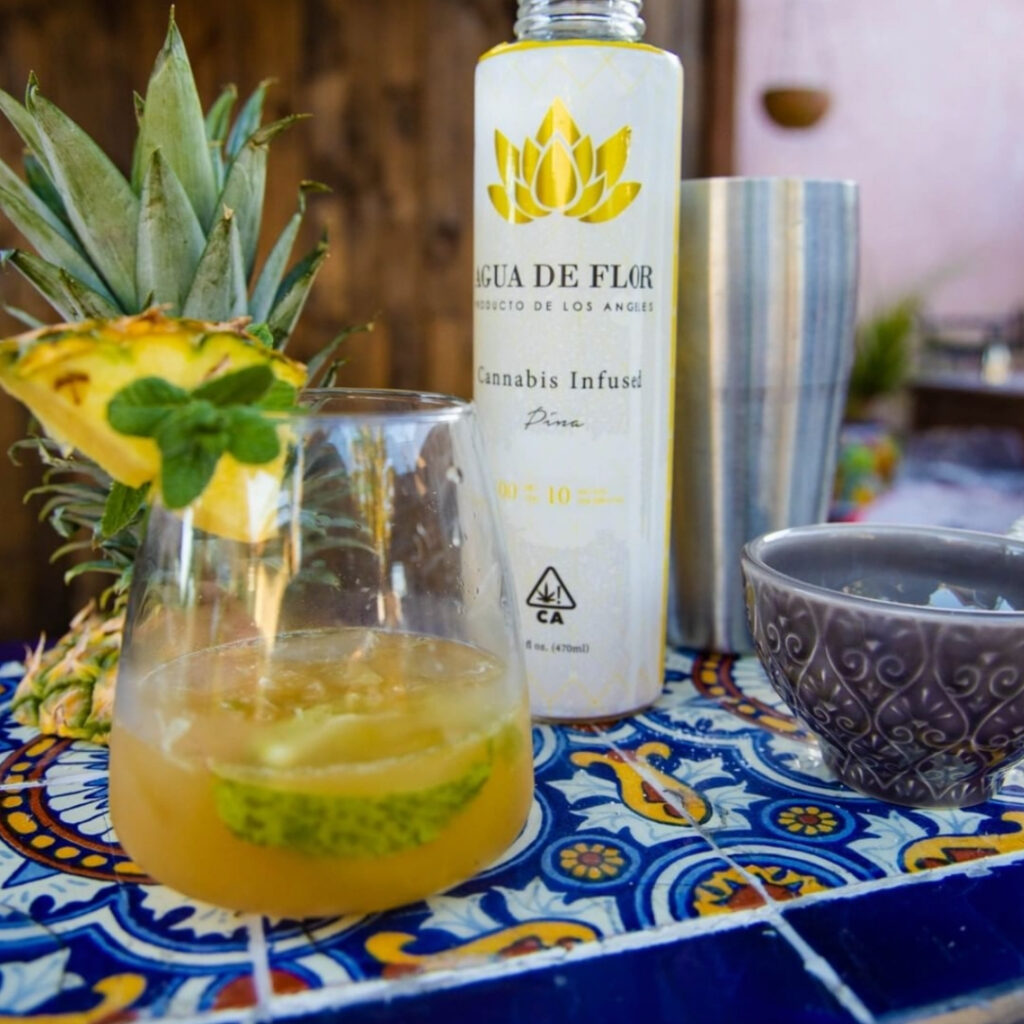 A photo of the pineapple express cinco de mayo mocktail made with Agua De Flor