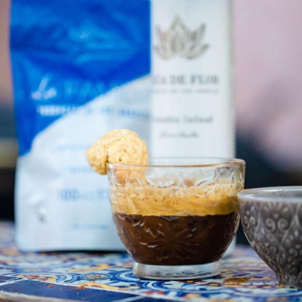 A photo of the wake n' bake cinco de mayo mocktail made with Agua De Flor