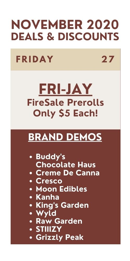 fri-jay - firesale prerolls are $5 each