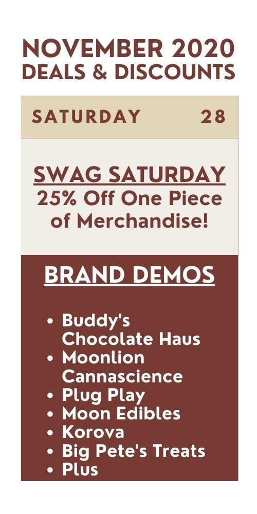 swag saturday - 25% off one piece of merchandise
